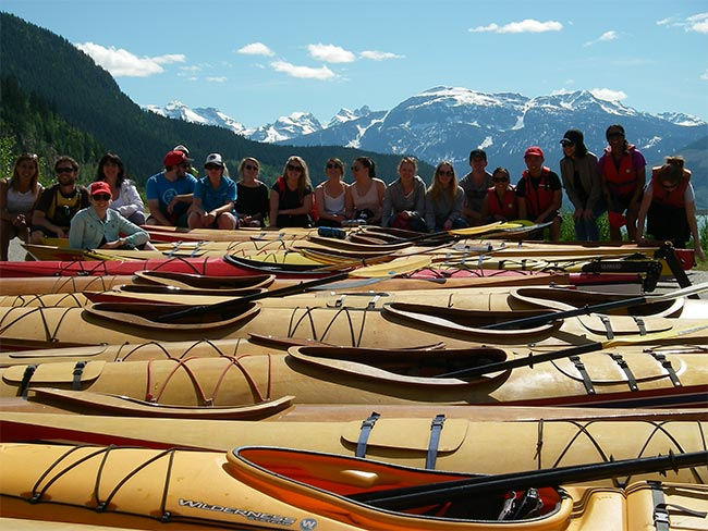 Getting ready for a tour on Lake Revy