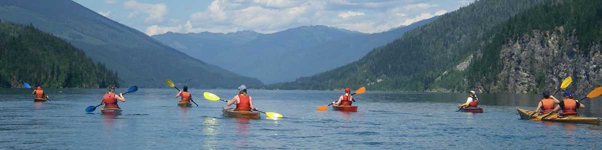 Tour on Lake Revelstoke looking north