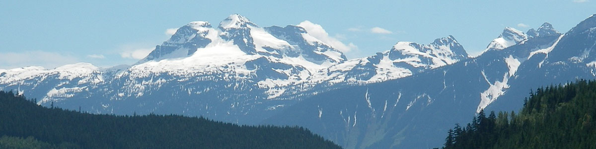 View of Mt Begbie from waterfall tour