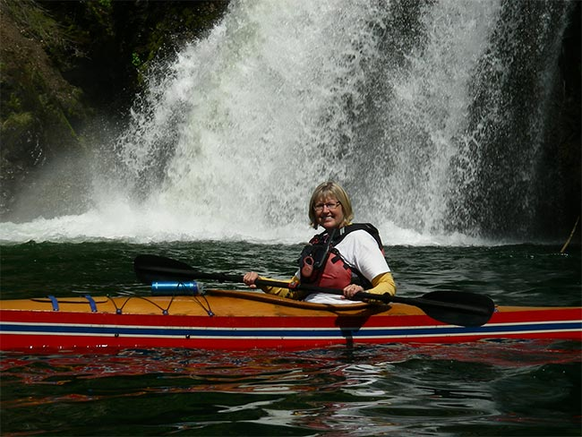 Wenche at Silvertip falls